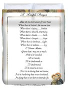 Pope Francis St. Francis Simple Prayer Mary Duvet Cover by Desiderata Gallery