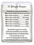 Pope Francis St. Francis Simple Prayer Peace On Parchment Duvet Cover