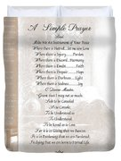 Pope Francis St. Francis Simple Prayer St. Teresa Duvet Cover by Desiderata Gallery