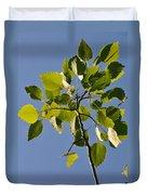 Poplar Leaves Duvet Cover