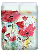 Poppies 05 Duvet Cover by Ismeta Gruenwald