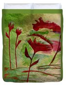 Poppies Abstract 2 Duvet Cover