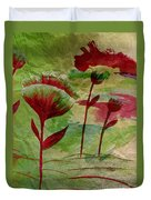 Poppies Abstract 3 Duvet Cover