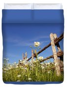 Poppies And Fence 2am-110209 Duvet Cover