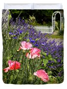 Poppies And Lavender Duvet Cover