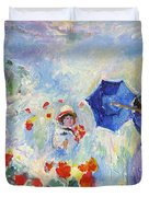 Poppies At Argenteuil Claude Monet Duvet Cover