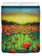 Poppies At Twilight Duvet Cover