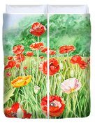 Poppies Collage I Duvet Cover