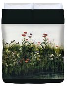 Poppies, Daisies And Thistles Duvet Cover