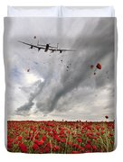 Poppies Dropped  Duvet Cover