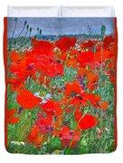 Poppies II Duvet Cover