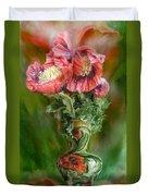 Poppies In A Poppy Vase Duvet Cover