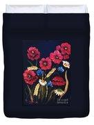 Poppies In Oils Duvet Cover