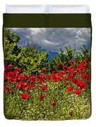 Poppies In Remembrance Duvet Cover