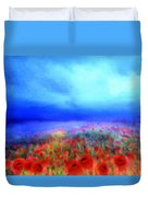 Poppies In The Mist Duvet Cover