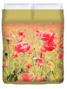 Poppies In Tuscany - Italy Duvet Cover