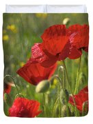 Poppies In Yorkshire Duvet Cover