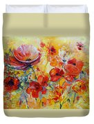Poppies On Fire Duvet Cover