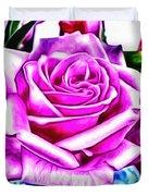Poppin Purple Rose Duvet Cover