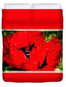 Giant Poppy Art  Duvet Cover