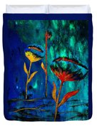 Poppy At Night Abstract 1 Duvet Cover