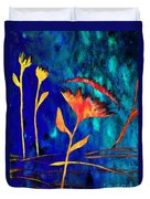 Poppy At Night Abstract 2 Duvet Cover