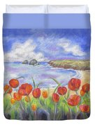 Poppy Beach Duvet Cover
