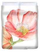 Poppy Bloom Duvet Cover by Sherry Harradence