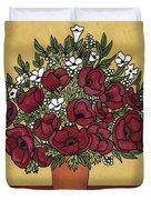Poppy Bouquet Duvet Cover