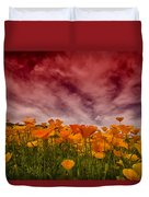 Poppy Fields Forever Duvet Cover