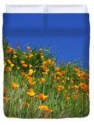 Poppy Flowers Landscape Art Prints Poppies Duvet Cover