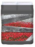 Poppy Memorial Tower Of London Duvet Cover