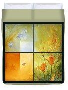 Poppy Pollination Duvet Cover