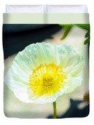 Poppy Series - Beside The Sidewalk Duvet Cover