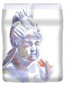 Porcelain Maiden In Watercolor Duvet Cover