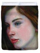 Porcelain Skin Duvet Cover by Sarah Parks