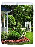 Porch And Garden Duvet Cover
