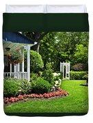 Porch And Garden Duvet Cover by Elena Elisseeva