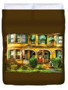 Porch - Cranford Nj - A Yellow Classic  Duvet Cover