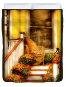 Porch - In The Light Of Autumn Duvet Cover