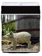 Pork Barrel Duvet Cover