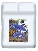 Porpoise Reef Duvet Cover