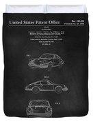 Porsche 911 Carrera 1964 Patent Art  Duvet Cover