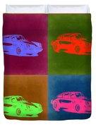Porsche 911 Pop Art 3 Duvet Cover