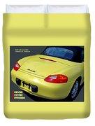 Porsche Boxster Posterior Duvet Cover
