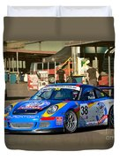 Porsche In The Pits Duvet Cover