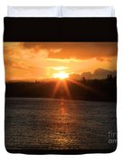 Port Angeles Sunrise Duvet Cover