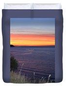 Port Angeles Sunset Duvet Cover