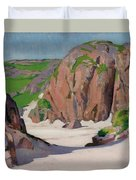Port Bhan  Iona Duvet Cover by Francis Campbell Boileau Cadell