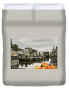 Port Clyde On The Coast Of Maine Duvet Cover